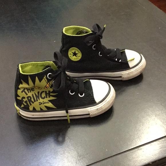 6e098bc2ad73 Grinch Dr. Seuss Glow in Dark Converse